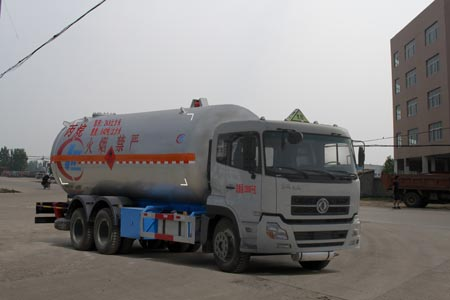东风天龙后双桥丙烷液化气体运输车