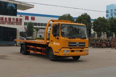 东风天锦平板型一拖二式清障车