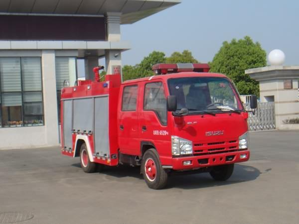 庆铃3360双排座水罐消防车