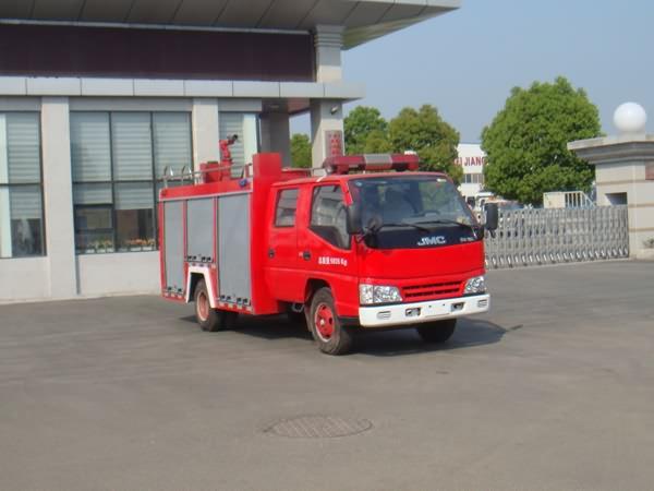 江铃双排座水罐消防车