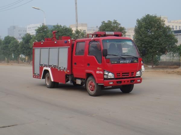 庆铃3815双排座水罐消防车