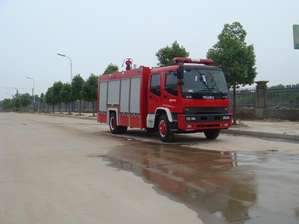 庆铃4700单桥双排座水罐泡沫消防车
