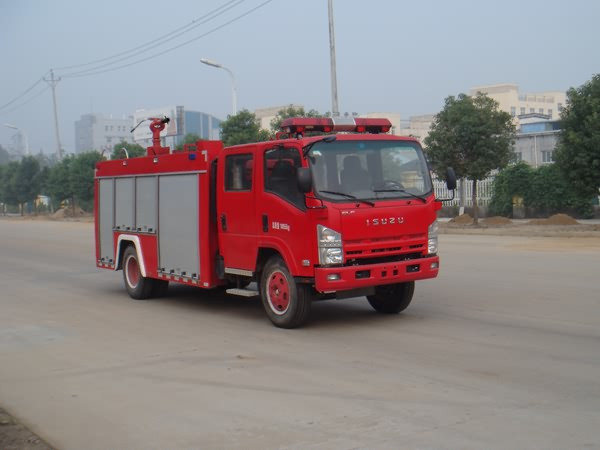 庆铃4475单桥双排座水罐消防车