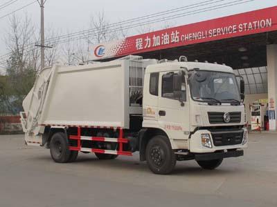 东风专底压缩式垃圾车12方