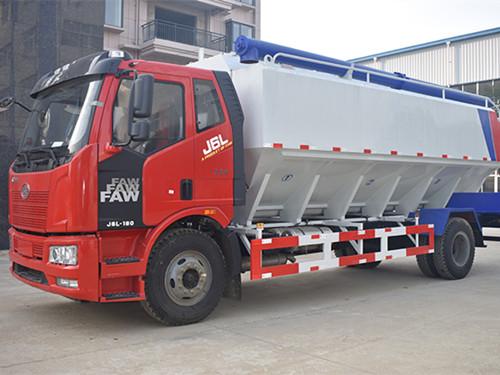 解放20方(10吨)散装饲料运输车