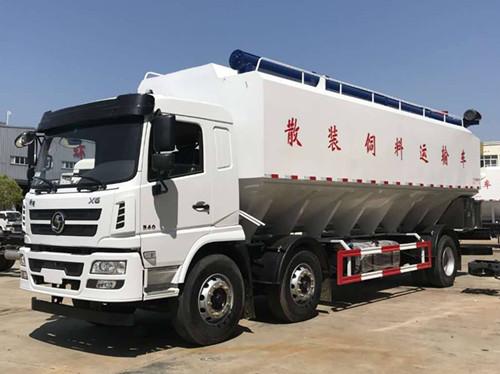 陕汽小三轴30方15吨散装饲料车