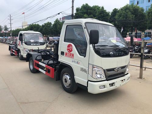 福田3-4方小勾臂垃圾车  柴油版