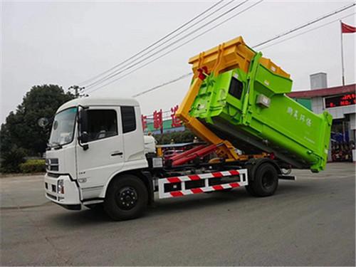 东风天锦12-15方-拉臂式垃圾车